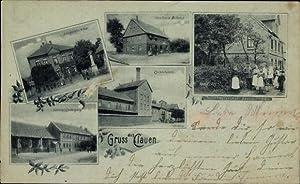 Mondschein Ansichtskarte / Postkarte Clauen Hohenhameln Niedersachsen,