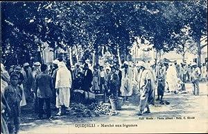 Ansichtskarte / Postkarte Djidjelli Jijel Algerien, Marché