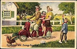 Künstler Ansichtskarte / Postkarte Groeten uit Laag