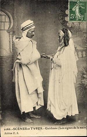 Ansichtskarte / Postkarte Algerien, Scenes et Types,
