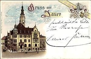 Wappen Litho Jawor Jauer Schlesien, Rathaus, Außenansicht
