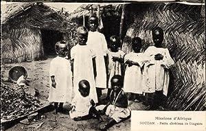 Ansichtskarte / Postkarte Soudan Sudan, Petits chrétiens
