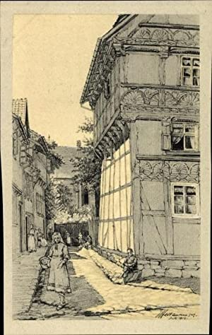 Künstler Ansichtskarte / Postkarte Osterwieck im Kreis