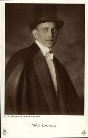 Ansichtskarte / Postkarte Schauspieler Max Landa, Portrait,