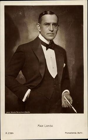 Ansichtskarte / Postkarte Schauspieler Max Landa, Portrait