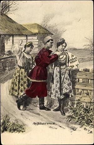 Künstler Ansichtskarte / Postkarte Scolik, Fec. Ch.,
