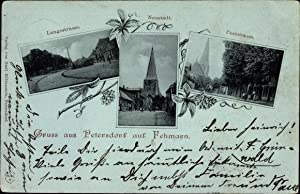 Mondschein Ansichtskarte / Postkarte Petersdorf Insel Fehmarn