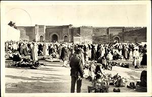 Ansichtskarte / Postkarte Meknès Marokko, Place El