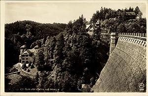Ansichtskarte / Postkarte Marklissa Schlesien, Queistalsperre, Blick