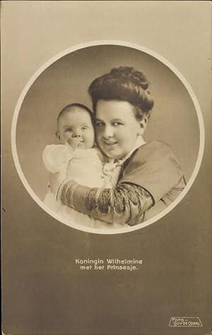 Ansichtskarte / Postkarte Koningin Wilhelmina met het