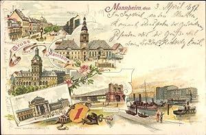 Litho Mannheim in Baden Württemberg, Planken, Kaufhaus,