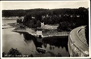Ansichtskarte / Postkarte Marklissa Schlesien, Queistalsperre, Sperrmauer,