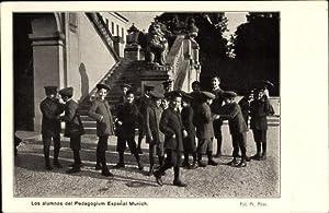 Ansichtskarte / Postkarte München, Los alumnos del