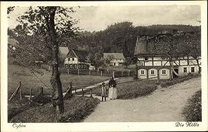 Ansichtskarte / Postkarte Oybin in Sachsen, Straßenpartie,