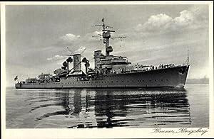 Ansichtskarte / Postkarte Deutsches Kriegsschiff, Kreuzer Königsberg,