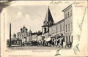 Ansichtskarte / Postkarte Pskow Russland, Velikolutskaya Straße