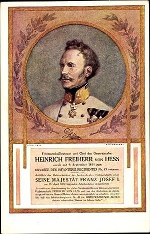 Künstler Ansichtskarte / Postkarte Heinrich Freiherr von