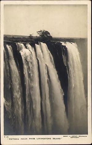 Ansichtskarte / Postkarte Sambia, Victoria Falls from