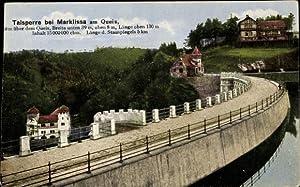Ansichtskarte / Postkarte Marklissa Schlesien, Queis Talsperre,