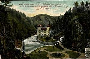 Ansichtskarte / Postkarte Marklissa Schlesien, Elektrizitätswerk an