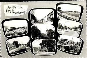 Ansichtskarte / Postkarte Leck in Nordfriesland, Schwimmbad,