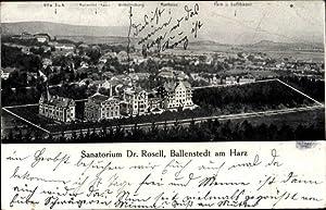 Ansichtskarte / Postkarte Ballenstedt im Harz, Sanatorium