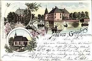 Litho Gelsenkirchen im Ruhrgebiet, Blick auf das