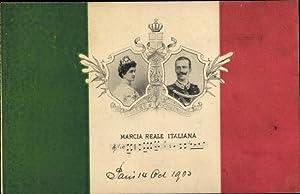 Lied Ansichtskarte / Postkarte Italien, Marcia Reale