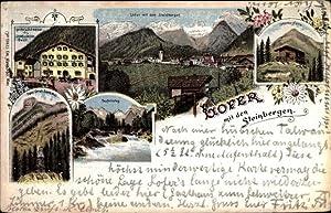 Litho Lofer in Salzburg, Gasthof zum Schweizer,