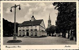 Ansichtskarte / Postkarte Resko Regenwalde Pommern, Marktplatz,