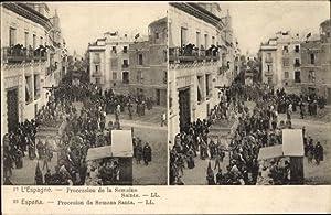 Stereo Ansichtskarte / Postkarte Sevilla Andalusien Spanien,