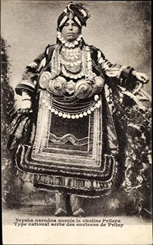 Ansichtskarte / Postkarte Prilep Mazedonien, Frau in