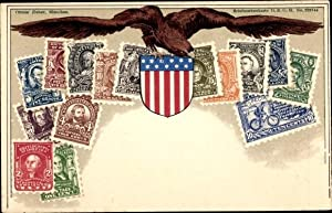 Briefmarken Litho USA, Adler, Zieher