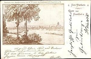 Künstler Ansichtskarte / Postkarte Frankfurt am Main,