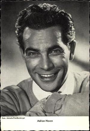 Ansichtskarte / Postkarte Schauspieler Adrian Hoven, Portrait,