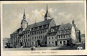 Ansichtskarte / Postkarte Roßwein in Sachsen, Häuserpartie