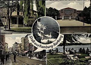 Ansichtskarte / Postkarte Hamburg Harburg, Hallenbad, Friedrich