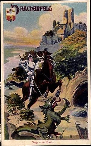 Künstler Ansichtskarte / Postkarte Königswinter im Rhein