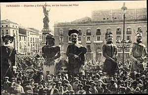 Ansichtskarte / Postkarte Saragossa Aragonien Spanien, Gigantes