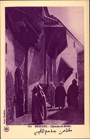 Ansichtskarte / Postkarte Meknès Marokko, Djemâa el