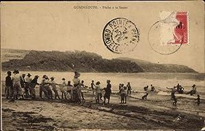 Ansichtskarte / Postkarte Guadeloupe, Pêche à la