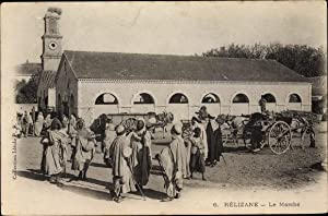 Ansichtskarte / Postkarte Relizane Algerien, Le Marché,