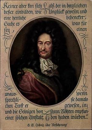 Künstler Ansichtskarte / Postkarte Philosoph Gottfried Wilhelm