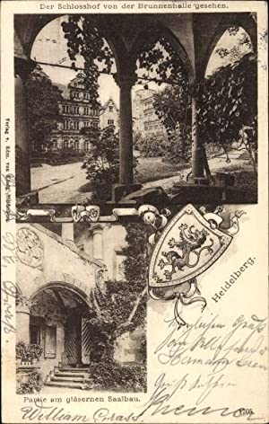 Ansichtskarte / Postkarte Heidelberg am Neckar, Schloss,