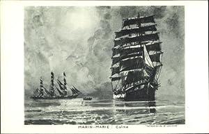 Künstler Ansichtskarte / Postkarte Marin Marie, Calme,