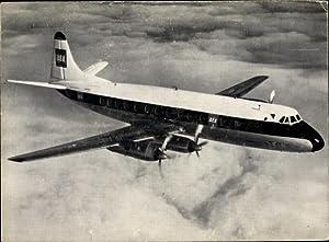 Ansichtskarte / Postkarte Britisches Passagierflugzeug British European