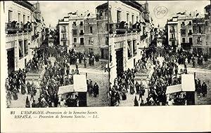 Stereo Ansichtskarte / Postkarte Spanien, Procession de