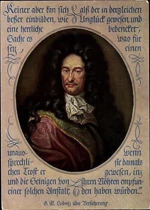 Künstler Ansichtskarte / Postkarte Gottfried Wilhelm Leibniz,