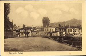 Ansichtskarte / Postkarte Prilep Mazedonien, Straßenpartie, Brücke