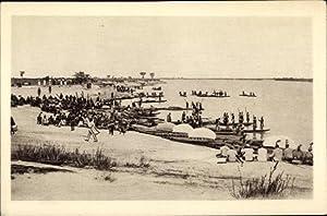 Ansichtskarte / Postkarte Sambia, Sambesi, La flotille